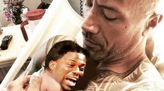 Dwayne 'The Rock' Johnson Trolls Kevin Hart With Weird 'Baby' Video