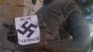 The Anne Frank Memorial In The US Vandalised With Swastika Stickers
