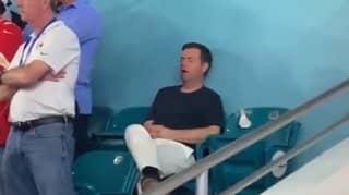 Man Falls Asleep During The First Quarter Of Super Bowl LIV