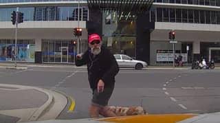 Pedestrian Served Instant Karma For His Rage At Motorist