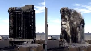 Donald Trump's Casino Demolished With Explosives In 'Las Vegas Style Implosion'