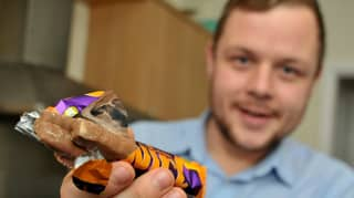 Man Opens Up Cadbury Orange Twirl To Find Three Fingers Of Chocolate