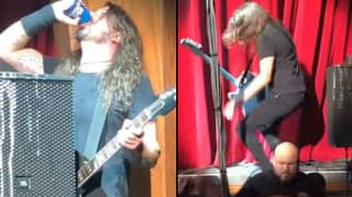 Dave Grohl Downs Beer Then Falls Off Stage During Foo Fighters Gig