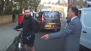 Angry Cyclist Slams Bike Into Mercedes Limousine In Road Rage Incident