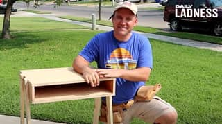 Dad Builds Dozens Of Tables For Students Remote Learning Amid Lockdown