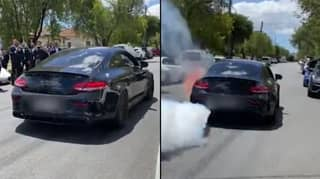 Sydney Driver Charged After Luxury Mercedes Bursts Into Flames While Doing Burnout
