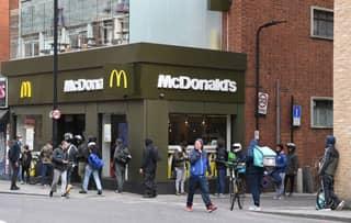 Huge Queues Form Outside McDonald's After 15 Restaurants Re-Open