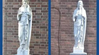 'Statue Of Virgin Mary' Turns Out To Be Jesus Monument After Being Cleaned