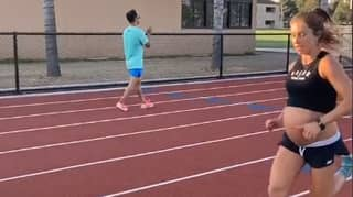 Woman Runs Incredible 5:25 Mile While Nine Months Pregnant