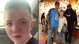 Keaton Jones Gets To Hang With College NFL Players After Bullying Video Goes Viral