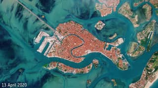 Satellite Photos Show How Empty Venice's Waterways Have Been