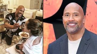 Dwayne Johnson Shares Adorable Photo Of Himself Feeding Partner While She Feeds Baby