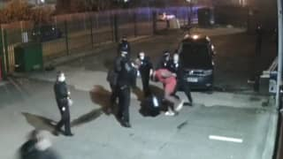 Footage Shows Police Pulling Man To The Ground After Raiding Lockdown Flouting Gym