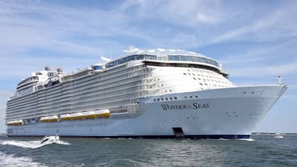 World's Largest Ever Cruise Ship Takes To The Sea For The First Time