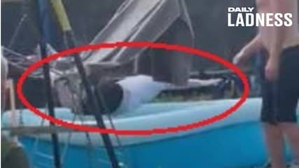 Man Pranks Neighbour Into Thinking England Were 2-0 Up, Neighbour Dives In Pool To Celebrate