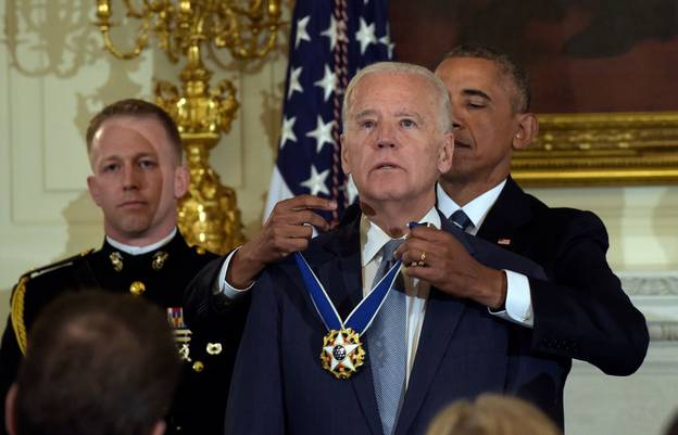 Joe Biden Receiving Medal Of Freedom Turns Into Meme