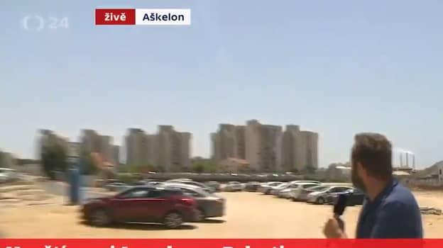 Missile Strike In Israel Captured During Live News Report