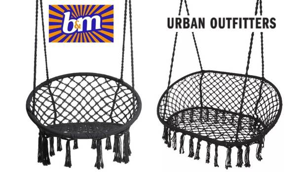 B&M's £30 Hanging Macrame Chair Is Just Like £200 Urban Outfitters One For A Fraction Of The Price