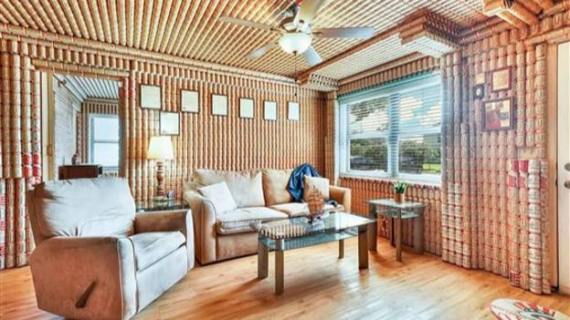 Home Decorated Entirely With Budweiser Beer Cans Goes Up For Sale