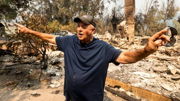 Californian Man Devastated After Dream Home He Spent 30 Years Building Is Destroyed In Wildfire
