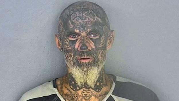 Man With Full Face Tattoo Dubbed 'World's Scariest Criminal' Arrested