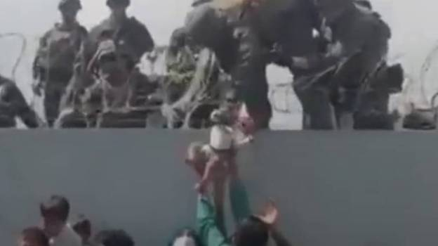 Baby Lifted Over Barbed Wire Fence At Kabul Airport Is Safe With Family In The US