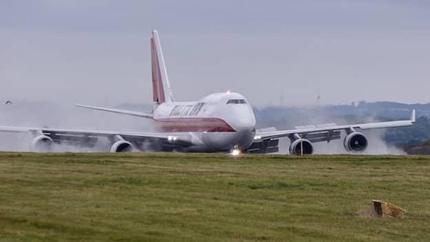 Landing Plane Bursts Into Flames At UK Airport