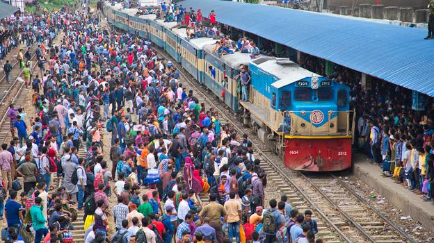 Video Footage Shows People Surfing On Top Of Trains In Bangladesh