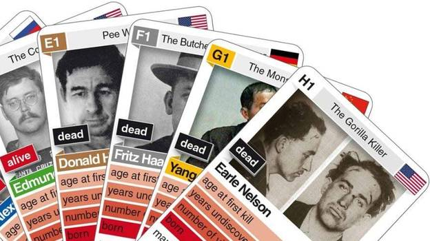 Top Trumps-Style Game Where Players Compare Serial Killers Branded 'Sick'