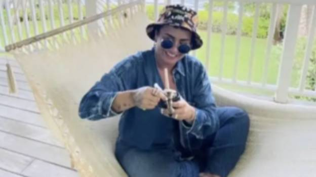 Demi Lovato Poses With Bong To Mark 4/20 After Saying She's 'California Sober'