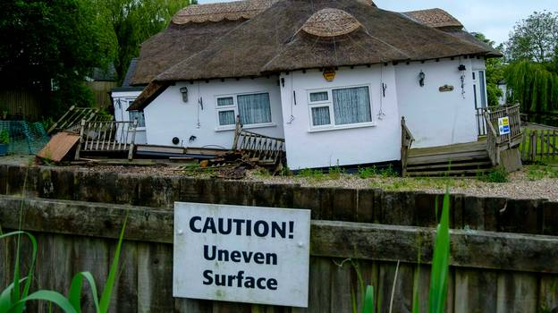 'Devastated' Couple Wake Up To Find Stunning £850,000 Riverside Cottage Sinking