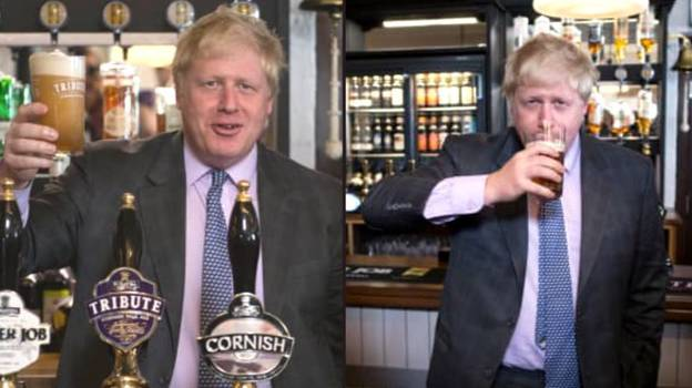 Boris Johnson Reveals He's Booked To Go To Pub On 12th April