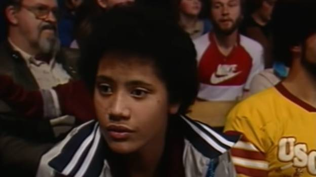 Teenage Dwayne Johnson Watches His Dad Wrestling In 1984