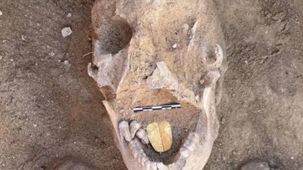 Gold Tongued Mummy Discovered In 2,000-Year-Old Burial Site