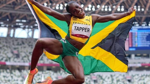 Jamaican Sprinter Raps Nicki Minaj Song After Winning Olympic Hurdles Medal