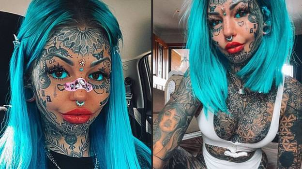 Instagram Model Who Has Spent £20k On Tattoos Shares What She Looked Like Before