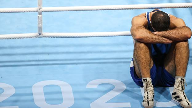 Olympic Boxer Throws Tantrum And Stages Protest After Disqualification Against British Fighter
