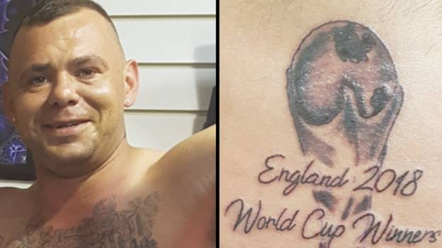 England Fan Who Has 'World Cup Winners' Tattoo Speaks Out After Loss To Croatia