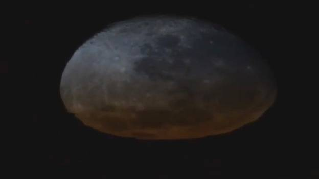 Rare Footage Shows The Moon Melting Away In An Orbital Sunset