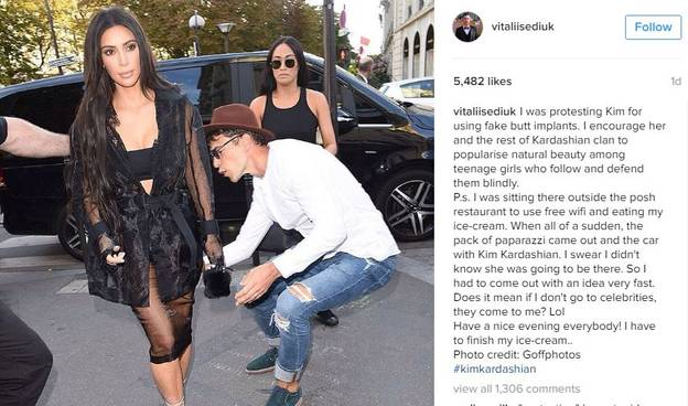 The Guy Who Attacked Kim Kardashian Has Tried To Justify It On Instagram