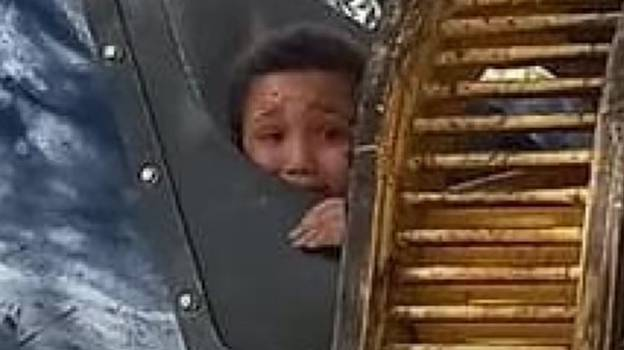 Boy Playing Hide And Seek In Bin Picked Up And Thrown Into Rubbish Truck