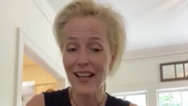 Gillian Anderson Vows Never To Wear A Bra Again After Lockdown