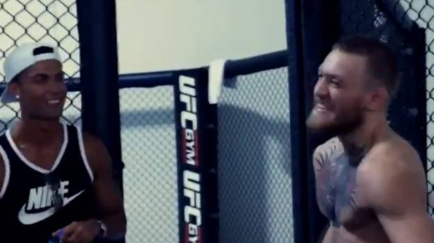 Video Of Conor McGregor Telling Cristiano Ronaldo He'd Overtake Him On Rich List Resurfaces