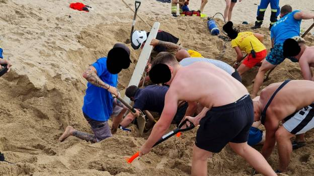 Teenager Almost Buried Alive After Hole He Dug Collapsed On Cornish Beach