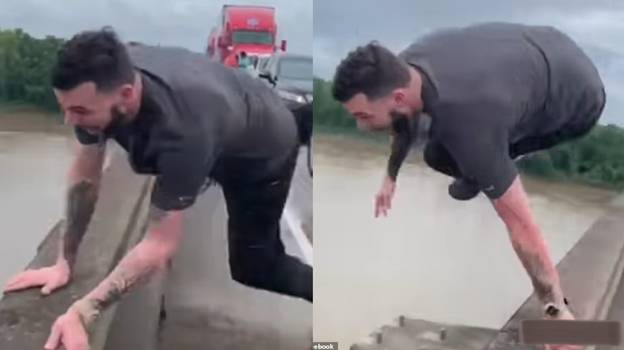 Man 'Bored In Traffic' Arrested After Leaping 100ft Into River Full Of Alligators