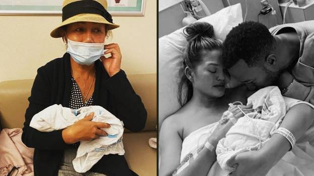 Chrissy Teigen's Mum Cries As She Kisses Late Grandson Jack Goodbye