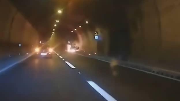 Burning Car Explodes As Passing Couple Joke It Might