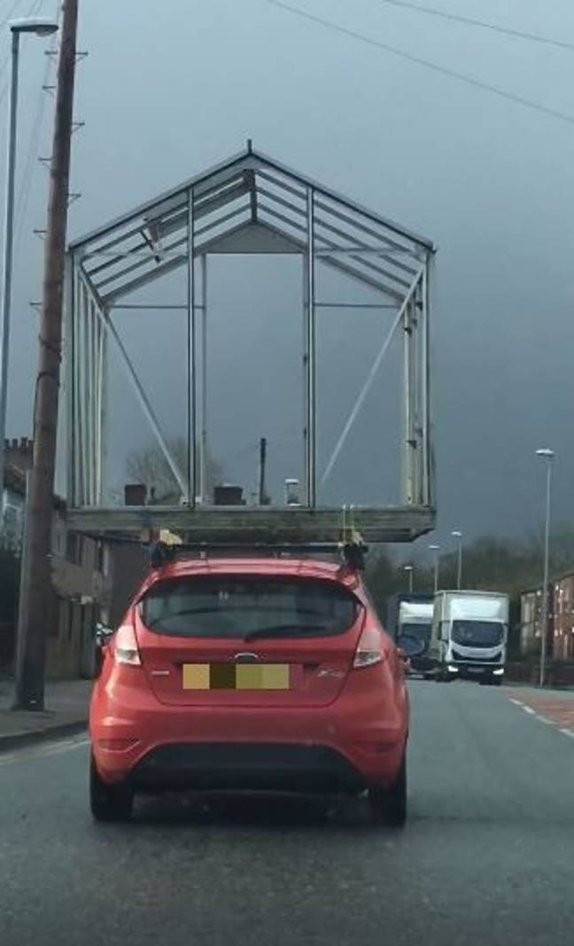 The glass structure on top of the car. Credit: Facebook/Darcy Maher
