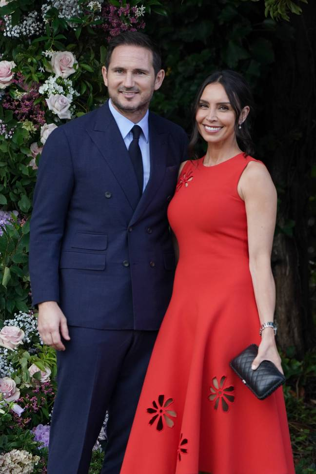 Frank and Christine Lampard. Credit: PA
