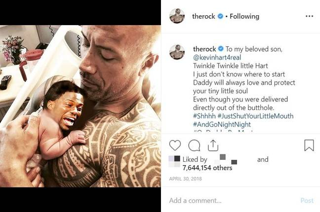 The Rock put this picture out on April 30 2018. Credit: Instagram/therock